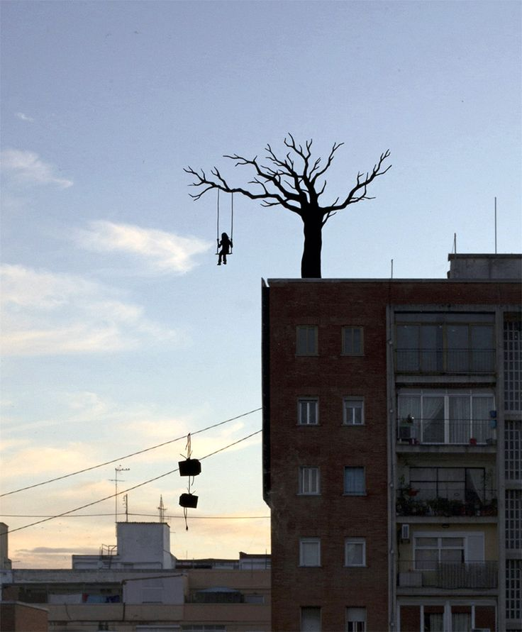 Miniature Window Silhouettes Painted by Pejac Interact with the outside World  http://www.thisiscolossal.com/2014/09/window-silhouettes-by-pejac-interact-with-the-outside-world/