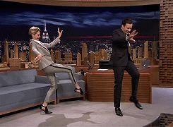 Shailene Woodley Teaches Jimmy Goth Dance Moves looool