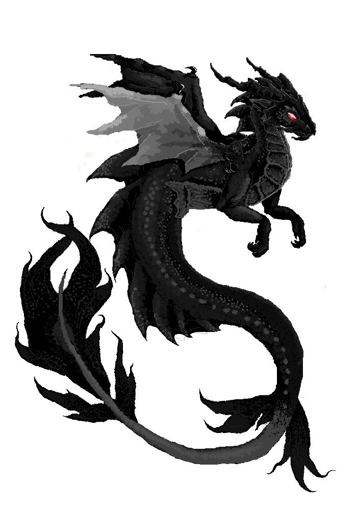 -i like the shape/flow of the dragon and how it looks like it is in the water.  just the shape and artistic flow though.