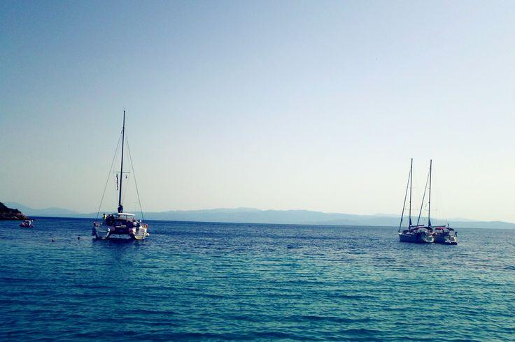 #yacht #sea #summer #bluesky #saltywater #island #greece #travel