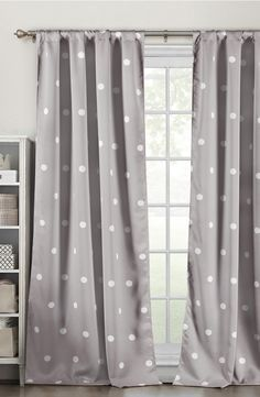 grey dotted curtains