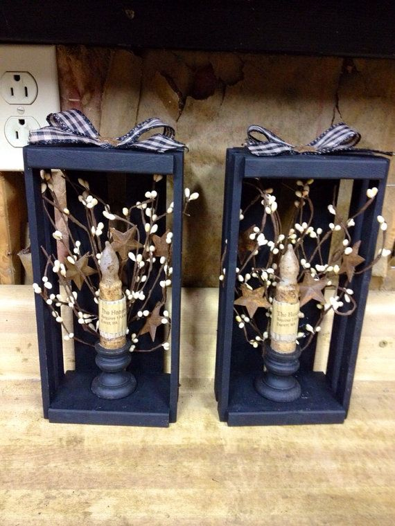 ordinary Homemade Primitive Craft Ideas Part - 4: Primitive country black candle stands | CRAFT: CANDLES | Pinterest | Primitive  crafts, Primitive and Primitive country crafts