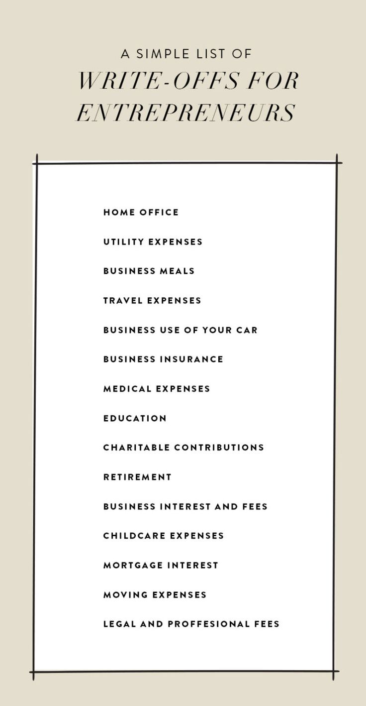A Quick List of Tax Write Offs for Entrepreneurs