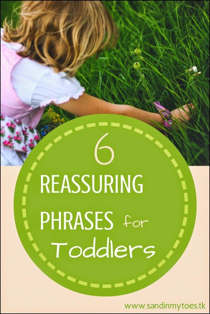 A few words of reassurance can really help your toddler when they are feeling fear or emotional stress. Here are a few phrases to help you connect with them when they need it most... #parenting #toddlers #parentingtips