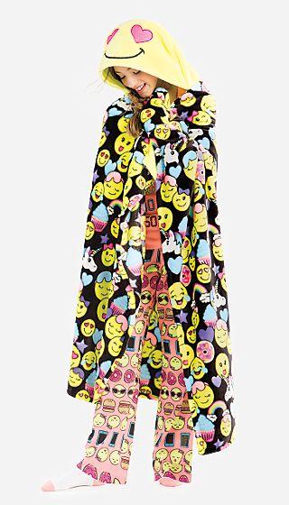 Cozy Hooded Emoji Blanket