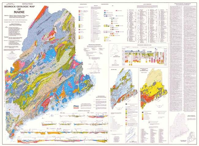 1985 Bedrock Geologic Map Of Maine  Maine  The Way Life