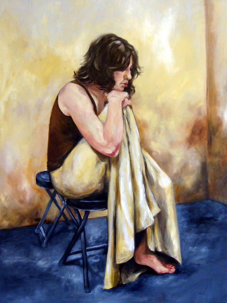 Oil painting done as example in an oil painting life session in my studio.2008