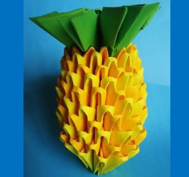 Piña de origami 3D - PV