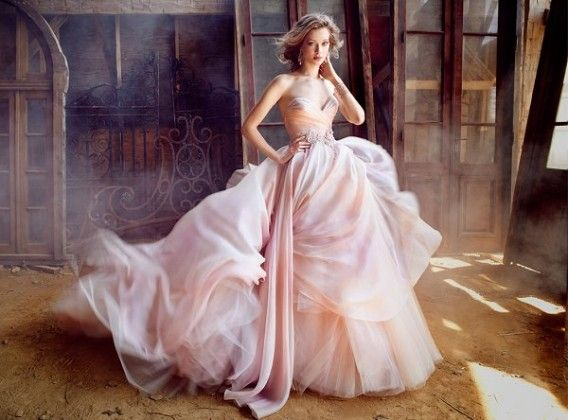 sweetheart ombre ball gown wedding dresses