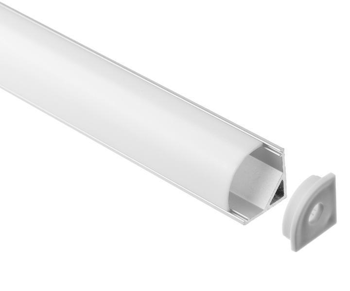 Aluminum Profile 90 Arc Cover Square Cover In 2020 12v Led Strip Lights Led Strip Lighting Led