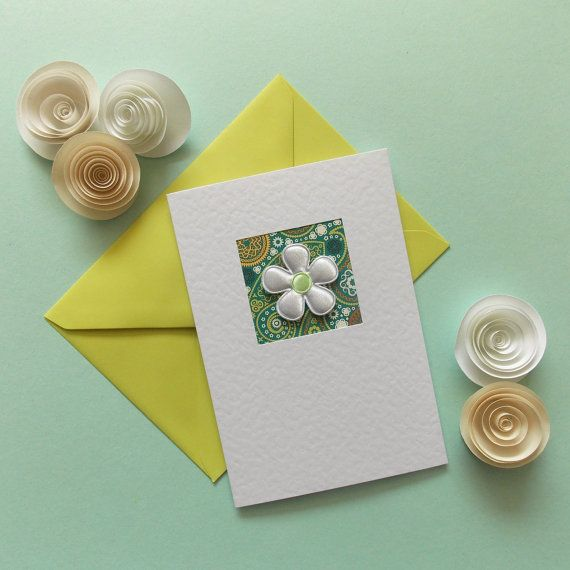 Blank Card best friend modern note card sister hand made