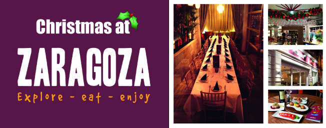 See Zaragoza's great Christmas Menus for Work Christmas Parties, Family…