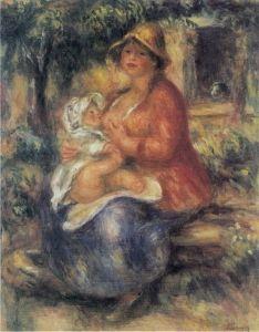 Aline Renoir nursing her Baby - Pierre Auguste Renoir - The Athenaeum