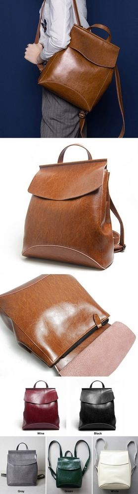 Women's Handmade Leather Backpack / Day Pack
