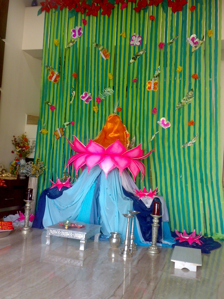 16 best images about ganpati decoration on pinterest Environmentally friendly decorations
