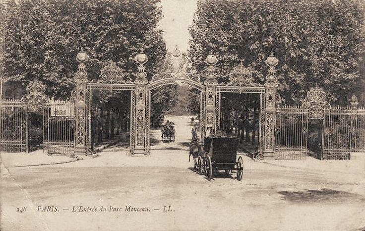 L'entrée du parc Monceau, vers 1900  (Paris 8ème)