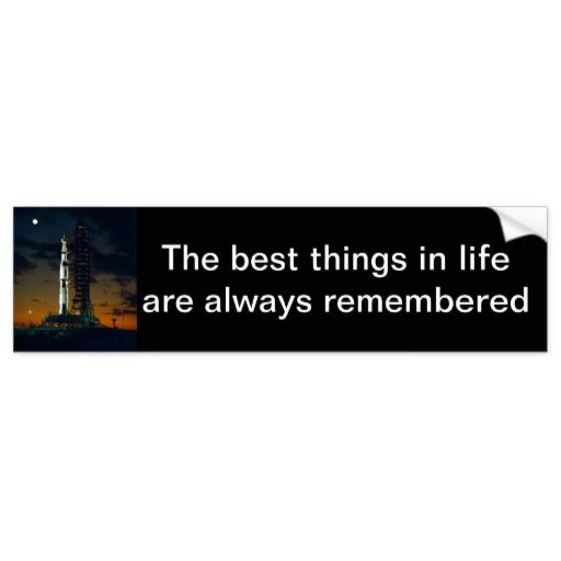 Saturn V rocket - the best things in life are always remembered
