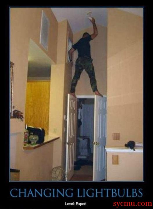 How to Change a Light Bulb Properly - Mc Gyver advices....