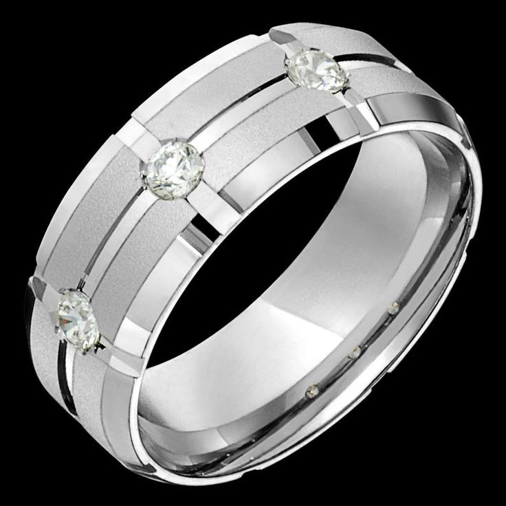 8mm wide comfort fit 10k white gold solid not plated men