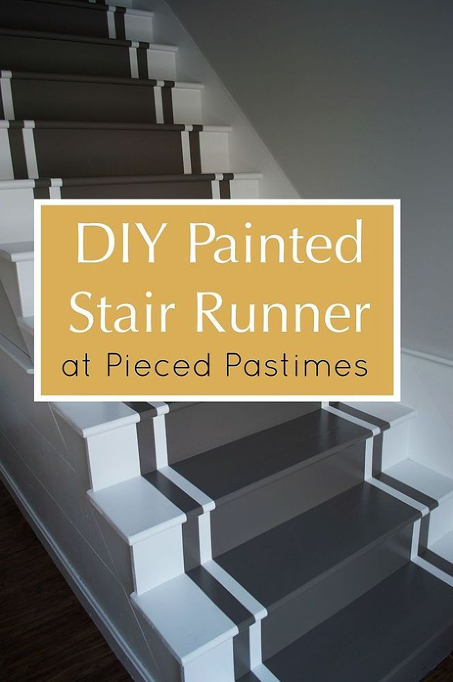 DIY Painted Stair Runner - We all have them - long overdue projects that get thrown on the back burner and forgotten about. This staircase was one of those proj…