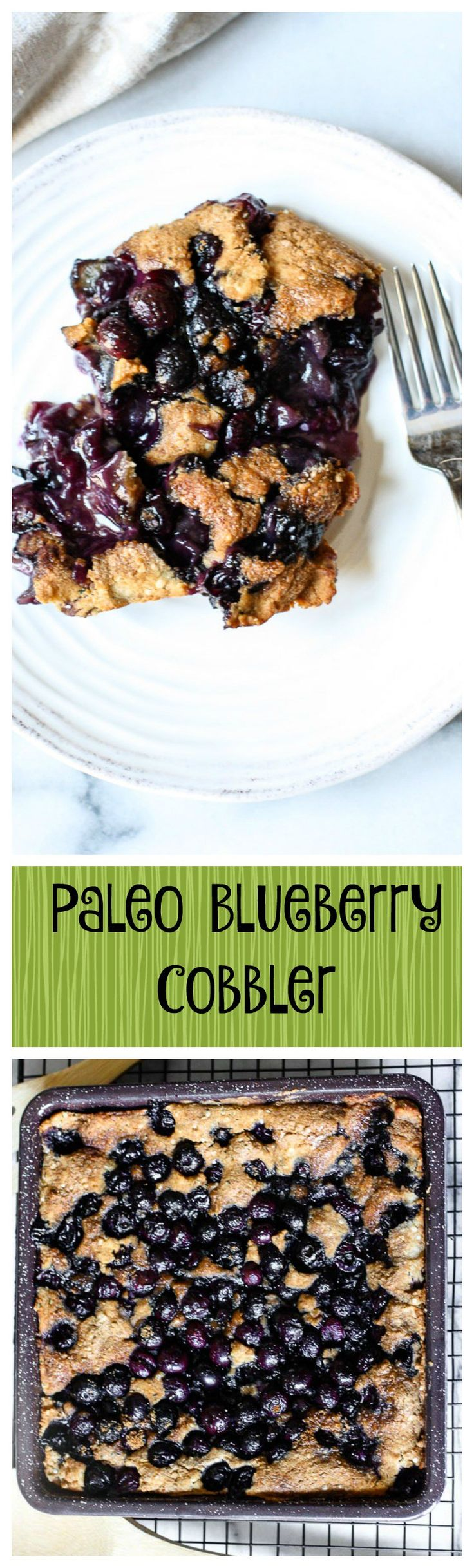 Paleo Blueberry Cobbler. This is it! The perfect simple healthy summer dessert recipe! This is just awesome!