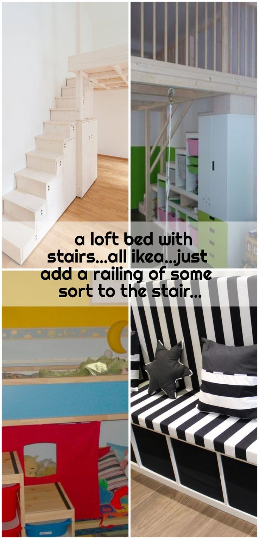Ein Hochbett Mit Treppe Alles In Allem Fuge Einfach Ein