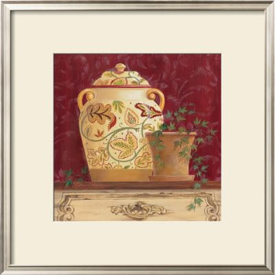 Ginger Jar and Ivory Prints by Gloria Eriksen