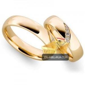 cincin kawin model sakinah sepasang perak lapis emas