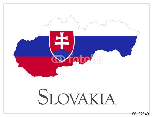 Wektor: Slovakia flag map