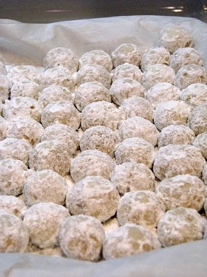 Always a hit, my pecan sandies or snow ball cookies recipe.  Great to add to your Christmas cookie line up or to make any time of the year.  Rolled in powdered sugar, delicious.