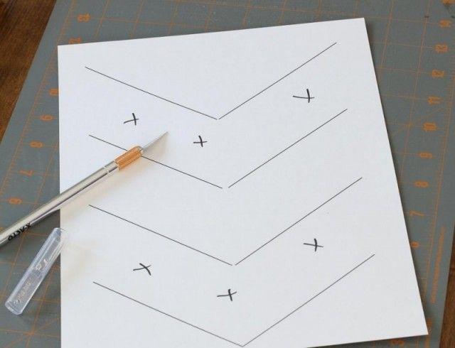 pêle mêle photo fait maison - découpez les segments marqués X