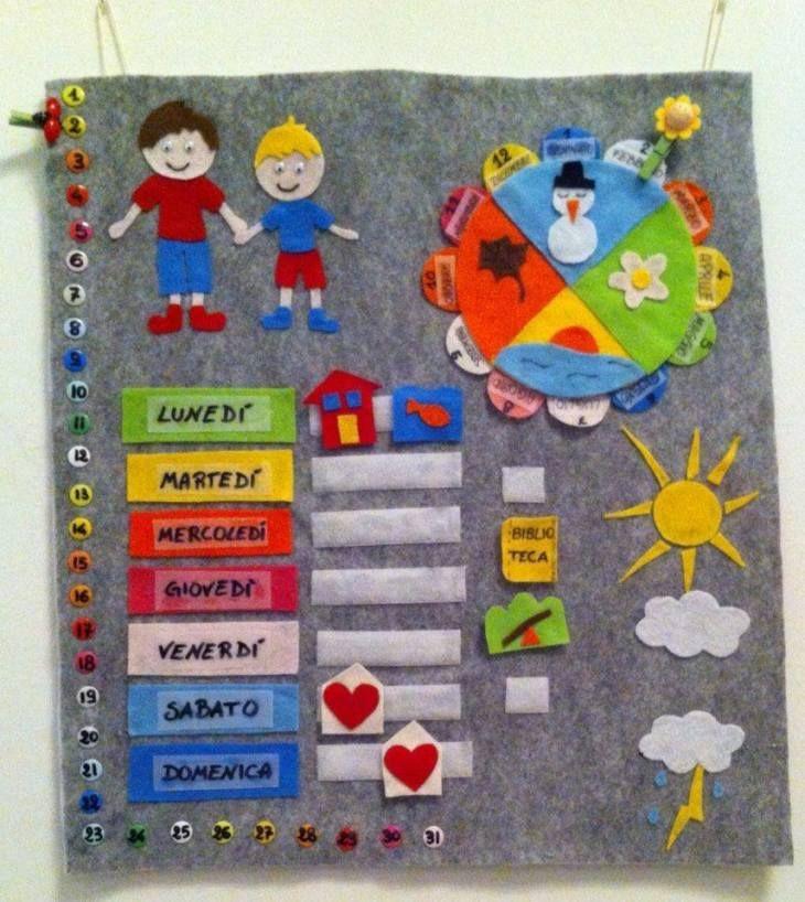 Risultati immagini per calendario settimanale bambini fai da te