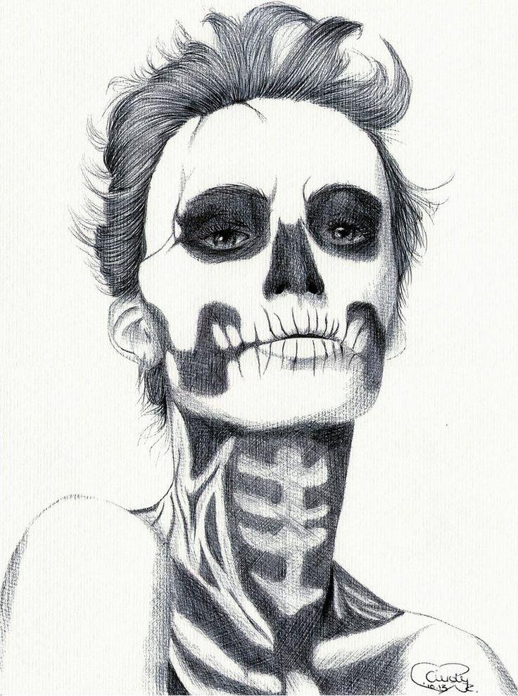 Картинки зомби для срисовки карандашом