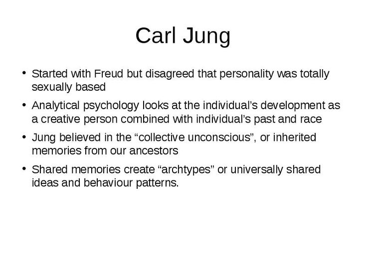 personality theorist a look at carl Identify one of the theorists presented and discuss their contributions to your understanding of the development of personality how does this help you understand human behavior these theorists include: sigmund freud , alfred adler, carl jung, karen horney, abraham maslow , and carl rogers.