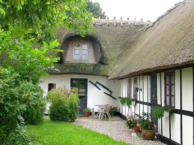 Storybook houses are a regular sight.  My in-laws have a thatched roof home.  It is a work of art.