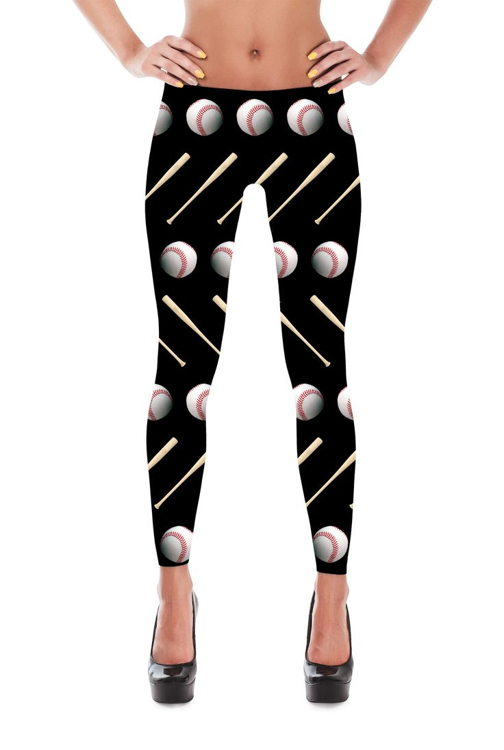 Baseball Leggings - Baseball Costume - Sports Costume - Baseball Themed Leggings - Baseball Pants