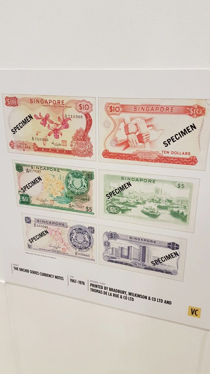 The Orchid-series of dollar notes made from 1967-1976.  The design uses elements such as dominance as there is only one colour scheme used. Proportion is used too, as the size of the text and objects differ to make it look coherent.