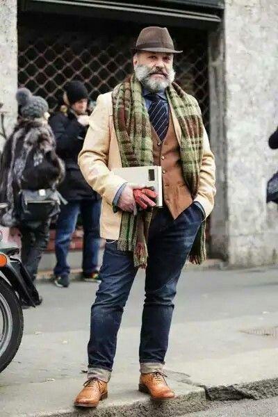 Mature man style plus size formal casual workwear fashion inspiration