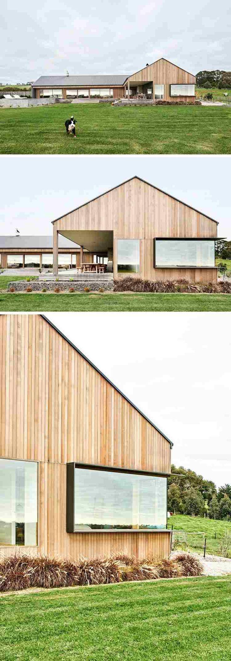 Aménagement intérieur maison maison américain style contemporain bardage bois