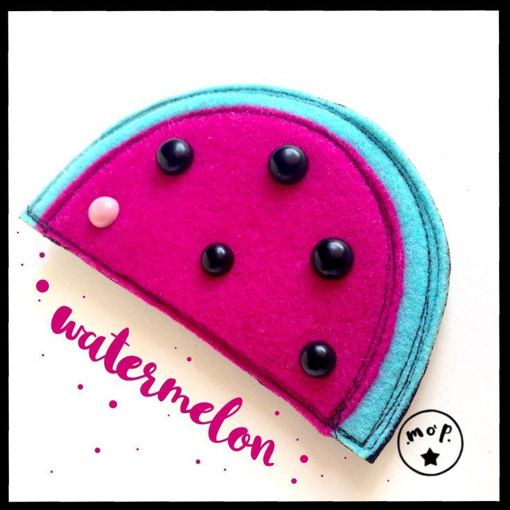 Spilla cocomero.watermelon big brooch. : Spille di mopidea