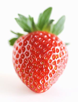 DIY teeth whitener - Mash up one strawberry with 1/2 teaspoon baking soda to create a paste. Spread the mixture onto your teeth with a toothbrush or your finger, and let it sit for five minutes. Rinse out your mouth and brush your teeth with your regular toothpaste. Strawberries contain an enzyme called malic acid that removes stains.