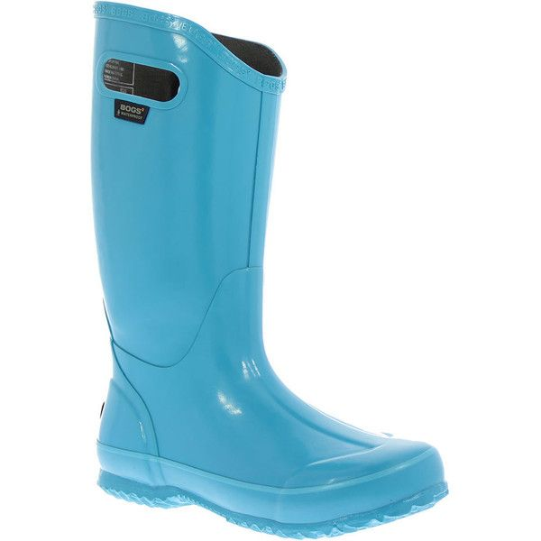 BOGS Rainboot Solid Women's Blue,Green Boot 7 M ($85) ❤ liked on Polyvore featuring shoes, boots, mid-calf boots, waterproof boots, green boots, wellington boots, green rain boots and waterproof wellington boots