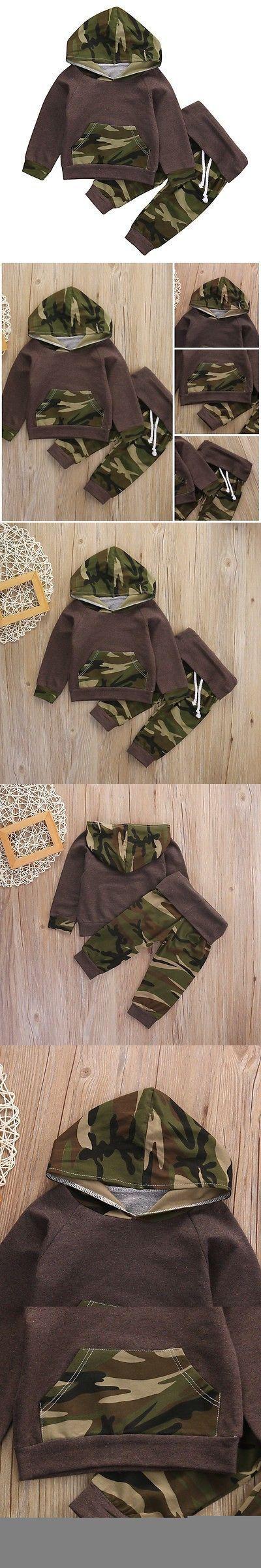 Camouflage infant kids children clothes Baby Boys Suit Tops Hoodie +Long Pants 2Pcs Outfits Set Clothes $6.99