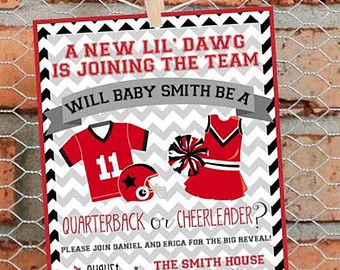 Gender Reveal Football Theme Pink or by LibertyAndLilacPaper