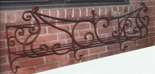 Wrought Iron Window Box from Twisted Metal.