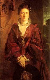Kronprinzessin Victoria in Renaissance-Kleidung, 1874, Gemälde von Heinrich von Angeli