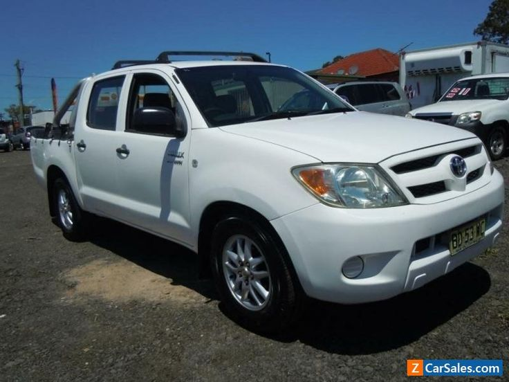 2005 Toyota Hilux TGN16R 2.7 VVT-I WORKMATE White Manual M C/CHASE #toyota #hilux #forsale #australia