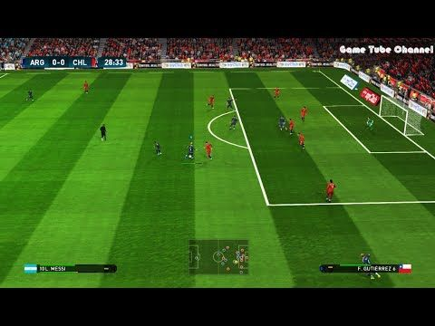 Argentina vs Chile | Full Match & Goals Highlights | PES 2017 Gameplay