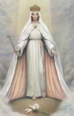 Beautiful picture of Mary, Queen of the Universe