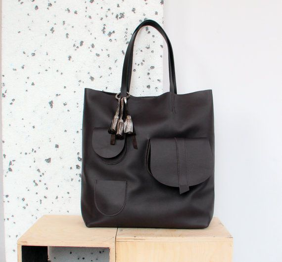 Leather tote large leather tote big leather tote by kulikstyle